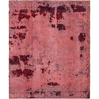 Hand Knotted Ultra Vintage Antique Wool Square Rug - 5' 8 x 6' 9