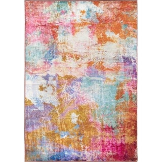 "Orian Rugs Symmetry City Sunrise Multi Area Rug - 7'10"" x 10'10"""