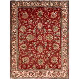 Hand Knotted Tabriz Antique Wool Area Rug - 9' 5 x 12' 9