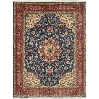 Hand Knotted Tabriz Silk & Wool Area Rug - 5' x 6' 7