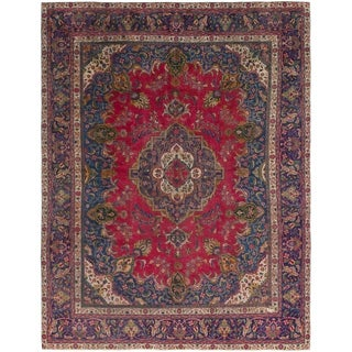 Hand Knotted Tabriz Antique Wool Area Rug - 9' 4 x 12' 5