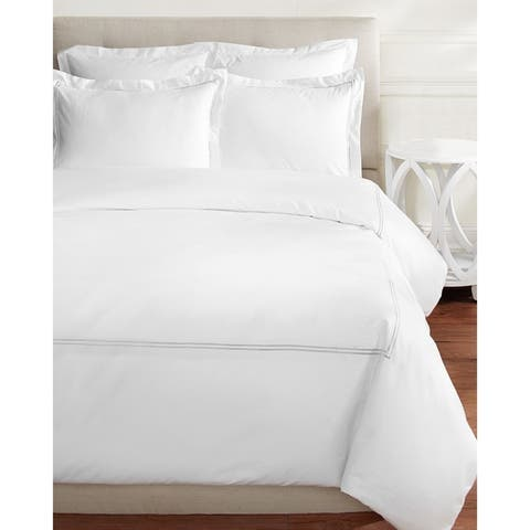 Home Sweet Home Collection 600 Thread Count Cotton 2 Stripe Embroidery Duvet Set