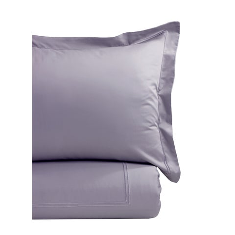 Home Sweet Home Collection 600 Thread Count Cotton Color On Color Strip Embroidery Duvet Set
