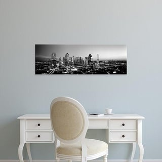 Easy Art Prints Panoramic Images's 'Night, Dallas, Texas, USA' Premium Canvas Art