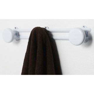 Wall Mounted Coat and Hat 3 Hooks Rail/Rack White or Chrome