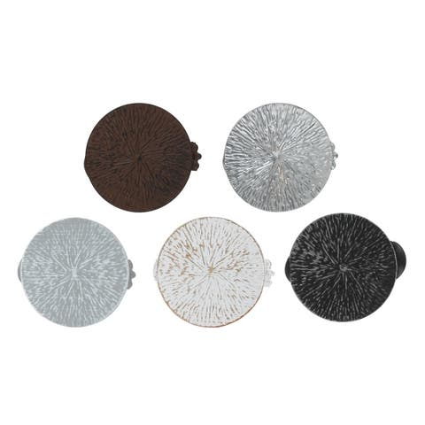Evideco Metal Round Clip Big Size Archi Set of 2 - White/Gold