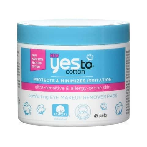 Yes to Cotton Eye Makeup Remover Pads, 45 Count