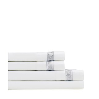 Home Sweet Home Collection 600 Thread Count Cotton Greek Key Embroidery Sheet Set