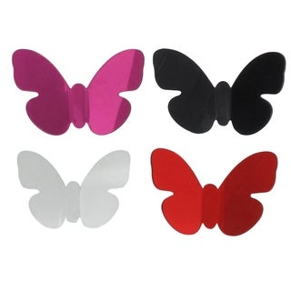 Evideco Acrylic Butterfly With Magnet Set of 3 Azure - Clear