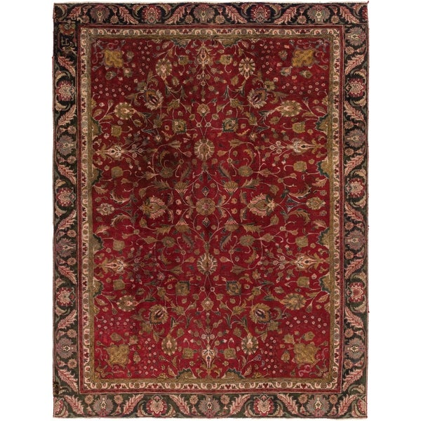 Shop Hand Knotted Tabriz Antique Wool Area Rug 8 10 X 12 On