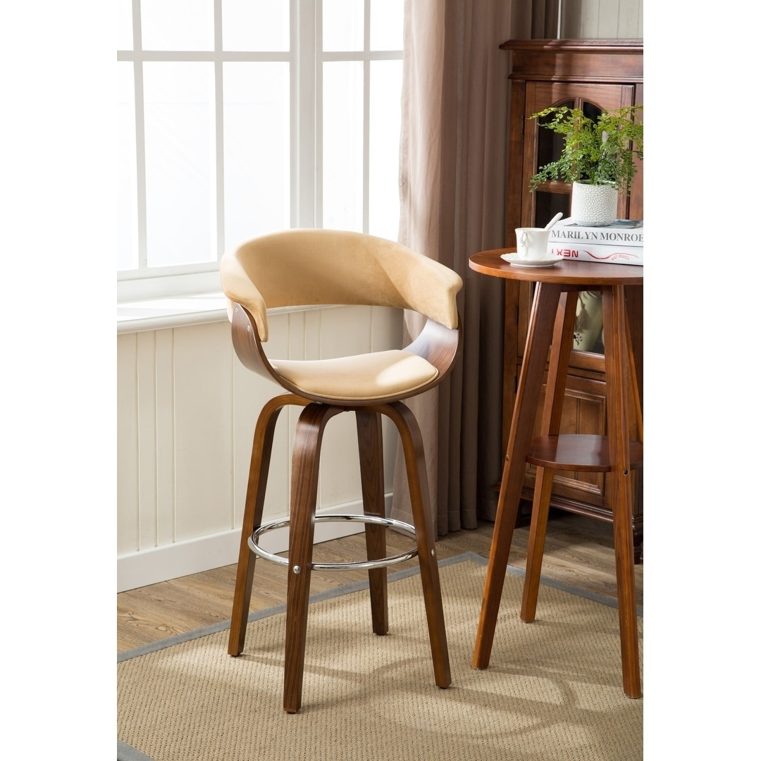 Remarkable Details About Porthos Home Axel Wood Bar Stools Beech Wood Legs Suede Upholstery Gmtry Best Dining Table And Chair Ideas Images Gmtryco