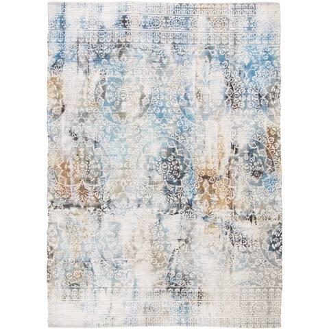 "Grand Bazaar Anata Light Blue/Multi Rug (3'6"" x 5'6"") - 3'6"" x 5'6"""