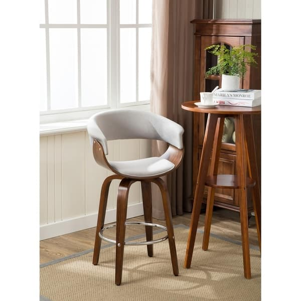 Wondrous Shop Porthos Home Zane Wood Counter Stools Suede Andrewgaddart Wooden Chair Designs For Living Room Andrewgaddartcom