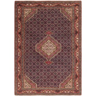 Hand Knotted Tabriz Wool Area Rug - 6' 4 x 9'