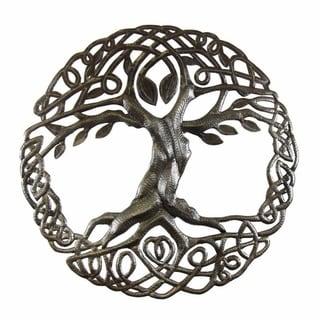 Handmade Celtic Tree of Life Metal Art (Haiti)