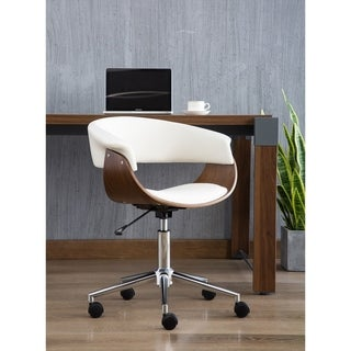 Porthos Home Isla Adjustable Swivel Office Chair - Suede Upholstery