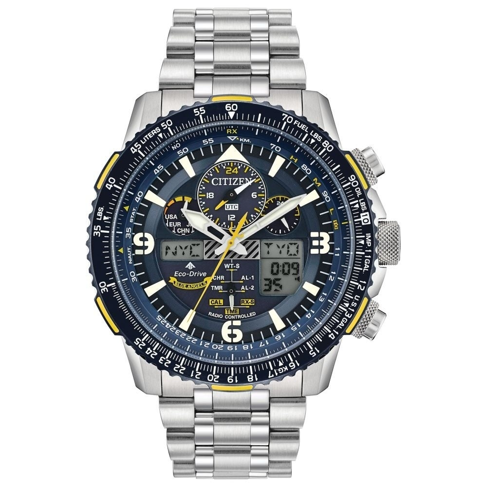 f979cf929 Citizen Men's JY8078-52L Eco-Drive Blue Angels Skyhawk A-T Watch