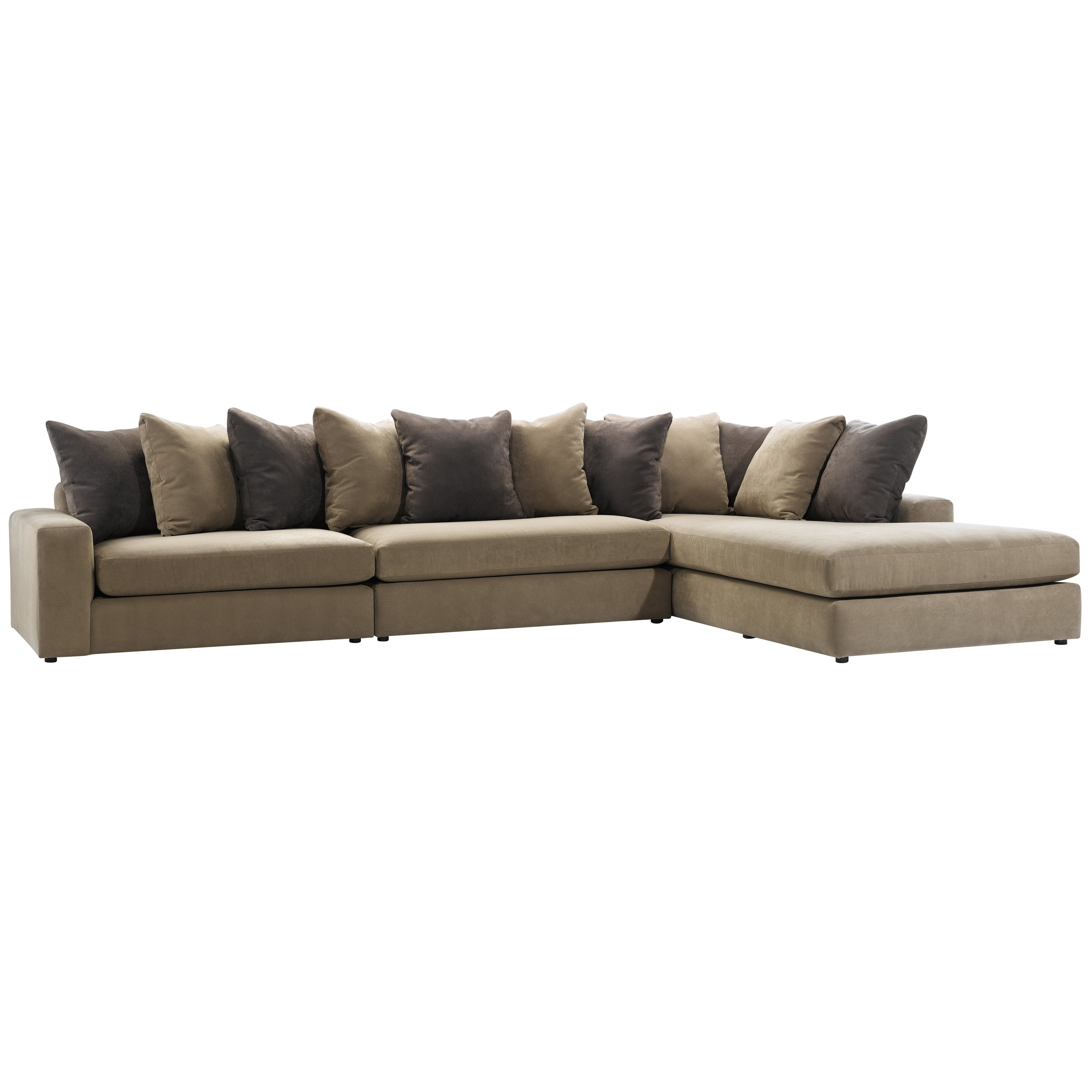 Made to Order Roche Studio Peyton Brown Fabric Sectional Sofa