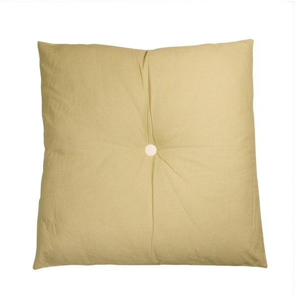 """30"""" Urban Life Over-Sized Solid Beige and White Tufted Decorative Floor Throw Pillow"""