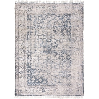 Grand Bazaar Shira Teal/Gray Rug - 5' x 7'