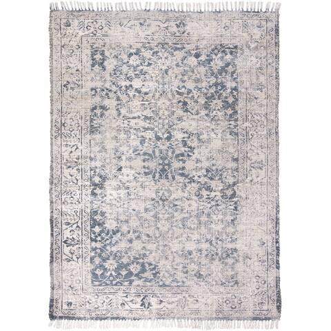 """Grand Bazaar Shira Teal/Gray Rug (3'6"""" x 5'6"""") - 3'6"""" x 5'6"""""""