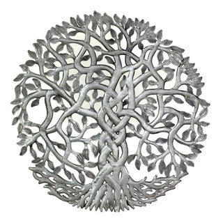 Handmade Entangled Tree of Life Wall Art (Haiti)
