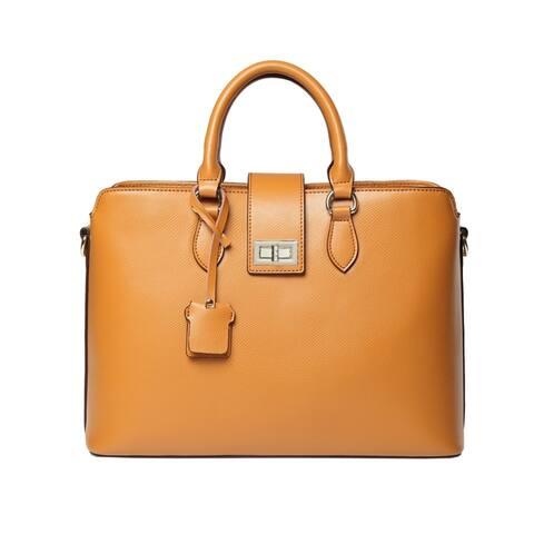 Nicole Top Handle Leather Handbag