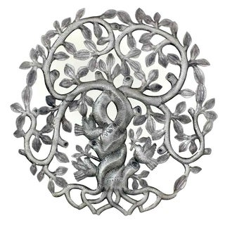 Handmade Twisted Tree of Life with Swirling Branches Wall Art (Haiti)