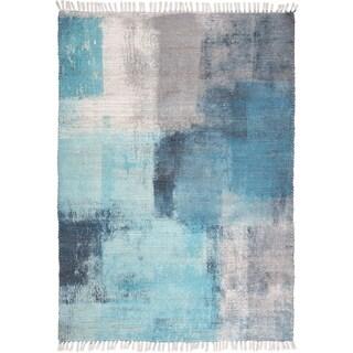 Grand Bazaar Shira Blue/Gray Rug (5' x 7') - 5' x 7'