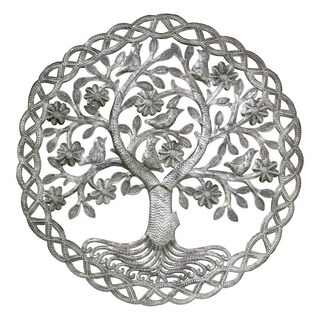 Handmade Dancing Tree of Life Wall Art (Haiti)