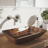 VIGO Aldous Brushed Nickel Wall Mount Bathroom Faucet