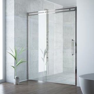 VIGO Erie Stainless Steel Adjustable Framed Sliding Shower Door