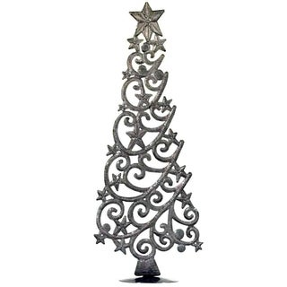 "Handmade Tabletop Christmas Tree with Stars (18"" Tall) (Haiti)"