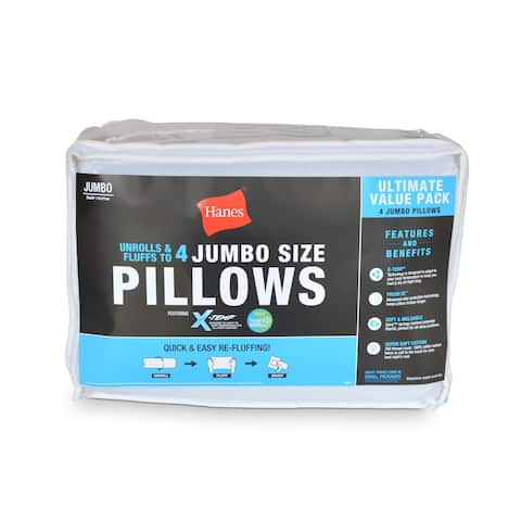 Hanes® X-Temp® Moisture Wicking & Cool Touch Pillow 4 Pack