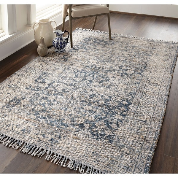 "Grand Bazaar Shira Teal/Gray Rug (2'3"" x 3'9"") - 2'3"" x 3'9"""