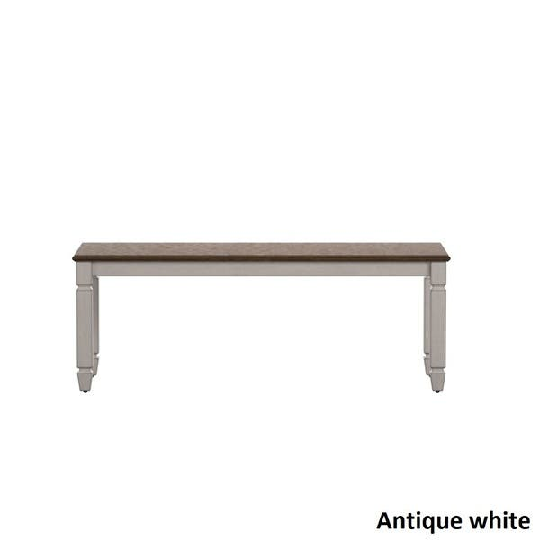 Excellent Shop Martine Two Tone Wood Dining Bench By Inspire Q Classic Pabps2019 Chair Design Images Pabps2019Com