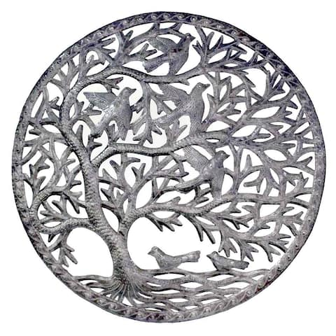 Handmade Stormy Tree of Life Wall Art (Haiti)