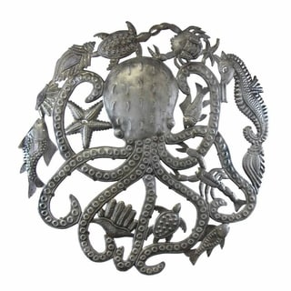 Handmade Octopus and Sealife Art (Haiti)