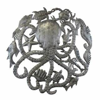Handmade Octopus & Sea life Wall Art (Haiti)
