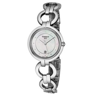 Tissot Women's T094.210.11.116.00 'Flamingo' Mother of Pearl Dial Stainless Steel Swiss Quartz Watch