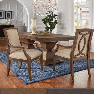 Strick & Bolton Maren Chair with Beige Linen Upholstery (Set of 2)