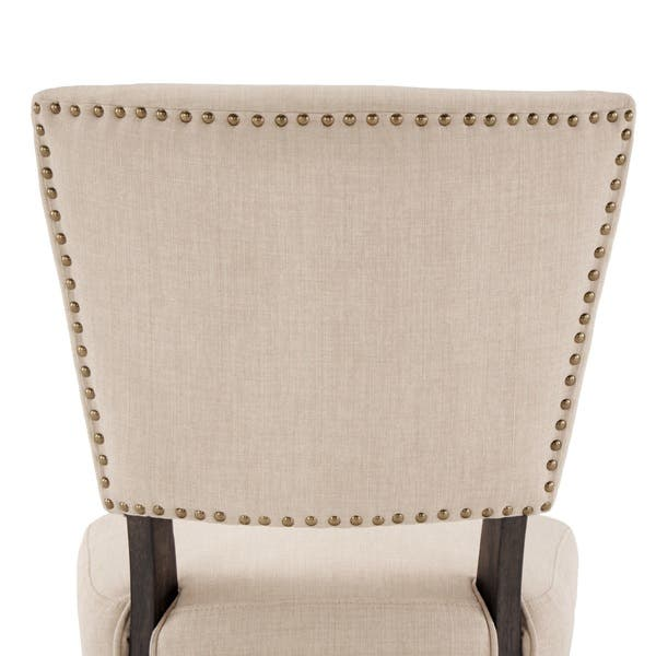 Super Shop Rawlings Beige Linen Nailhead Dining Chairs Set Of 2 Bralicious Painted Fabric Chair Ideas Braliciousco