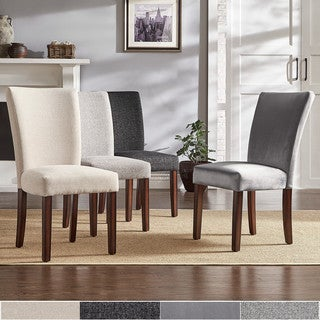 Cannes Upholstered Parson Dining Chair (Set of 2) by iNSPIRE Q Bold