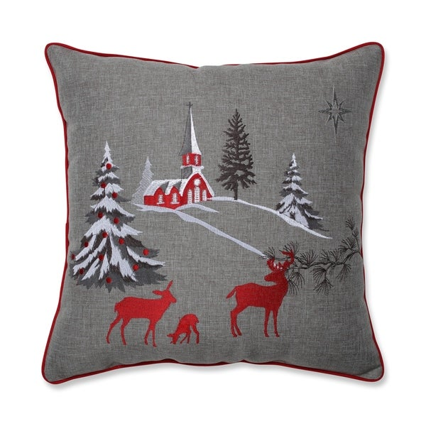 Shop Pillow Perfect Christmas Scene 17 Inch Throw Pillow