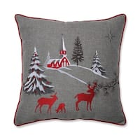 Christmas Scene 17-inch Throw Pillow