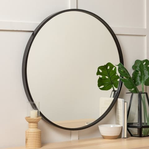 Carson Carrington Carrowdore 30-inch Round Wall Mirror