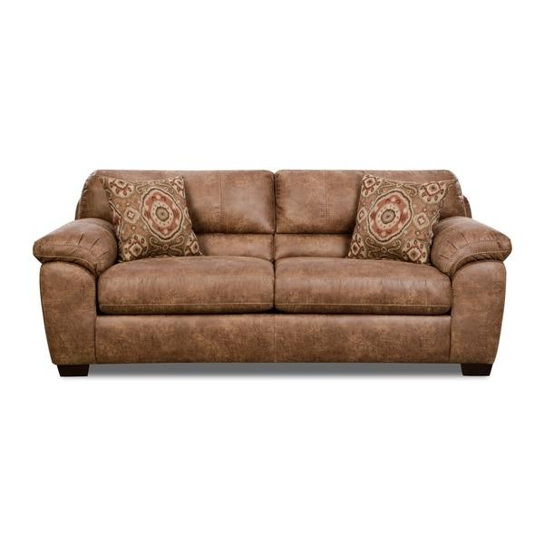 Hoxton Sofa (Brown/ Grey)