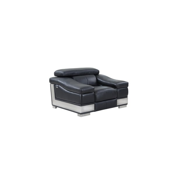 Shop black leather upholstered living room chair on sale - Upholstered living room chairs sale ...