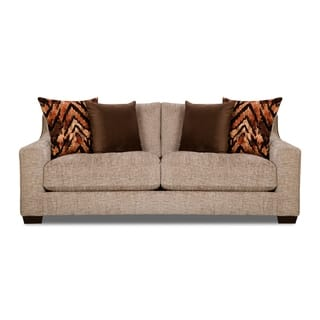 Hatton Sofa Brown And White Grey