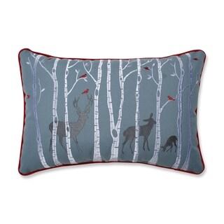 Pillow Perfect Christmas Woodland Deer Lumbar Throw Pillow